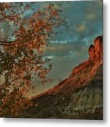 Bluffs Along The Saline River North Of Russell, Kansas. Metal Print