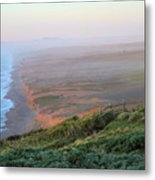 Bluffs And South Beach Point Reyes Metal Print