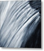 Blurred Detail For Falling Water Metal Print