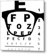 Blurry Eye Test Chart Metal Print