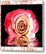 Blush Reflection Metal Print