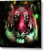 Blushing Tiger Metal Print