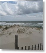 Blustery Day At Beach Metal Print