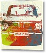 Bmw 2002 Front Watercolor 2 Metal Print