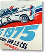 Bmw 3.0 Csl Sebring 1975 Peterson Redman Metal Print