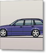 Bmw E36 328i 3-series Touring Wagon Techno Violet Metal Print