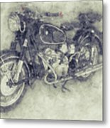 Bmw R60/2 - 1956 - Bmw Motorcycles 1 - Vintage Motorcycle Poster - Automotive Art Metal Print