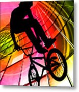 Bmx In Lines And Circles Metal Print