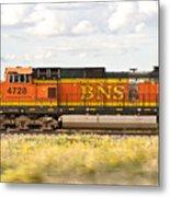 Bnsf Railway Engine Metal Print