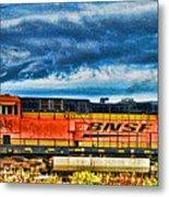 Bnsf Train Hdr Metal Print