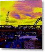 Bnsf Trestle At Salmon Bay Metal Print