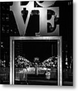 Bnw Philly Love 0218c Metal Print
