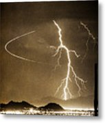 Bo Trek Lightning Art Metal Print