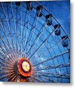 Boardwalk Ferris Wheel At Dusk Metal Print