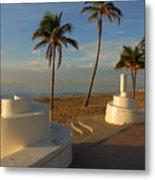 Boardwalk Palms Metal Print