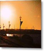 Boardwalk Sunset Metal Print
