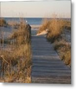 Boardwalk To The Beach Metal Print