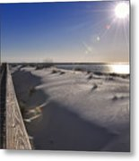 Boardwalk To The Gulf Metal Print
