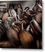 Boat - Block And Tackle  Metal Print