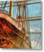 Boat - Ny - South Street Seaport - Peking Metal Print by Mike Savad