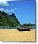 Boat And Bali Hai Metal Print