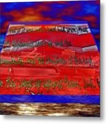 Boat As Art With Text Metal Print