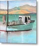 Boat At China Camp State Park Metal Print