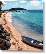 Boat Beach Vieques Metal Print