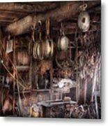 Boat - Block And Tackle Shop  Metal Print