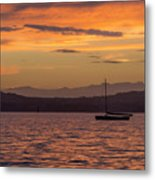 Boat By Holywood Metal Print