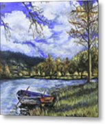Boat By The Lake Metal Print