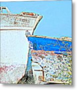 Old Boats Hugging And Kissing Forever  Metal Print by Hilde Widerberg