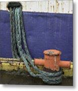 Boat Detail Husavik Iceland 3701 Metal Print