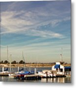 Boat Dock On The Bay Metal Print