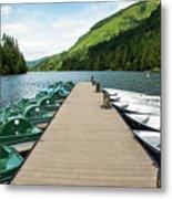 Boat Fun At Silver Lake Metal Print