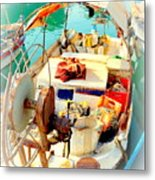 Enter My Boat And Let's Go Away From It All And Never Look Back  Metal Print by Hilde Widerberg