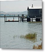 Boat House At Inverness  Metal Print