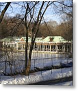 Boat House Central Park Ny Metal Print