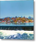 Boat House Row From Fairmount Dam Metal Print
