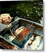 Boat In Fog 2 Metal Print