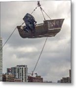 Boat In The Air Metal Print
