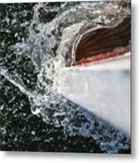 Boat In Water Metal Print
