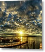 Boat Launch Sunrise Metal Print