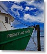 Boat Love In Apalachicola Metal Print