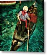 Boat Of Venice Metal Print