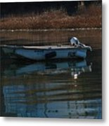 Boat On A Calm Day Metal Print