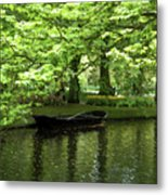 Boat On A Lake Metal Print