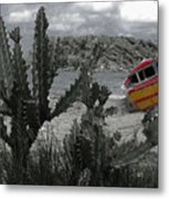 Boat On Beach Metal Print