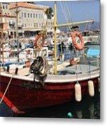 Boat On Hydra Metal Print
