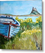 Boat On Lindisfarne. Metal Print